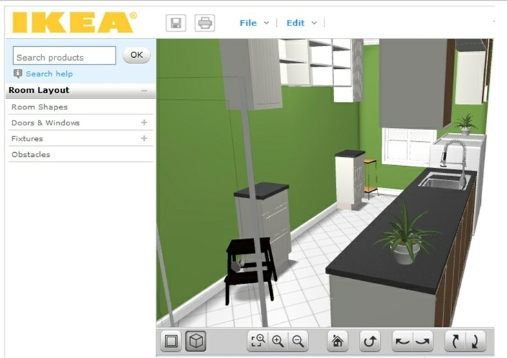 Charming 3D Kitchen Planner   Ideas For Wall Design In Green Room Planner Ikea    Prepare Your Home Like A Pro!
