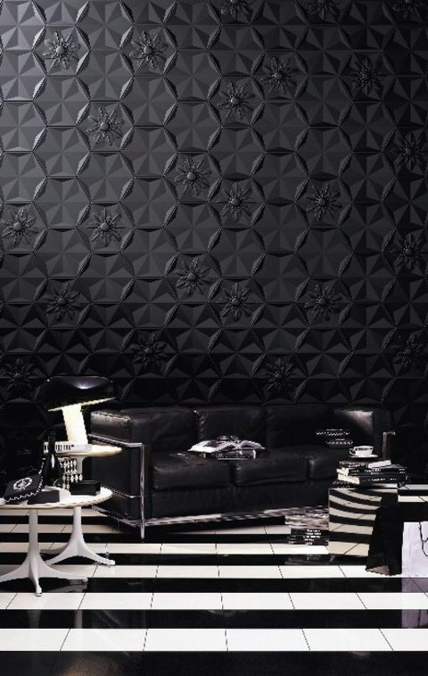 The Black Wallpaper Creates An Artistic Living Environment In Your - Wallpaper for walls black and white