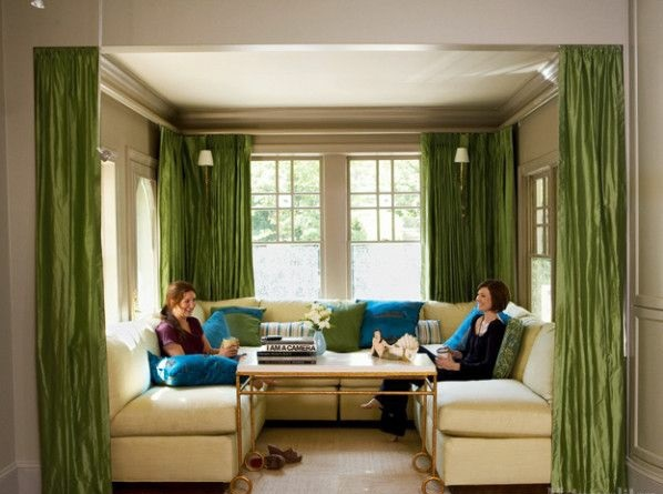 Curtains Ideas curtains for a green room : 30 curtains in green for all seasons | Interior Design Ideas ...