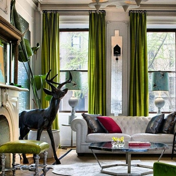30 Curtains In Green For All Seasons Interior Design