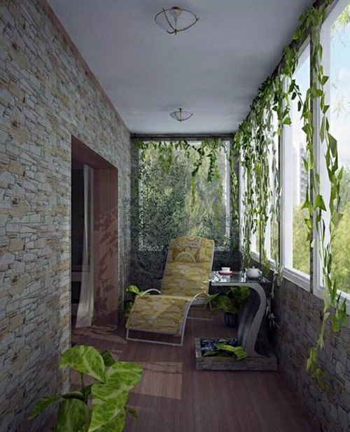 Small balcony design interesting interior design ideas for Balcony wall decoration