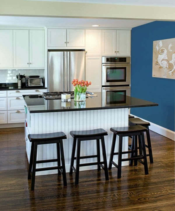 Blue Kitchen Walls: Powder Blue Wall Paint – Water-colored Interior