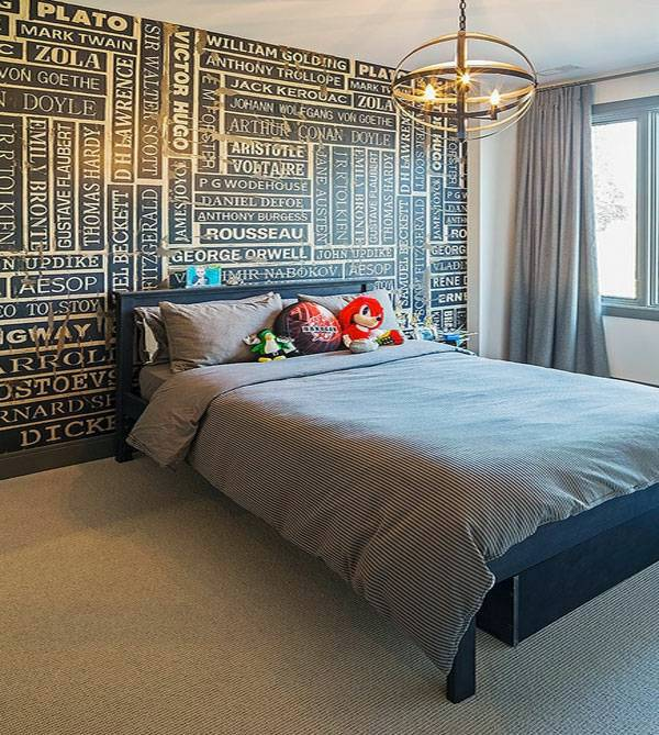 Creative Wallpaper For Walls create creative wall design with letters and writings | interior