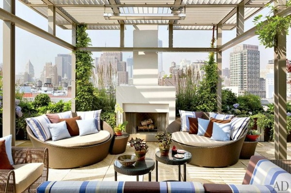 Roof terrace design ideas examples and important aspects for Terrace layout