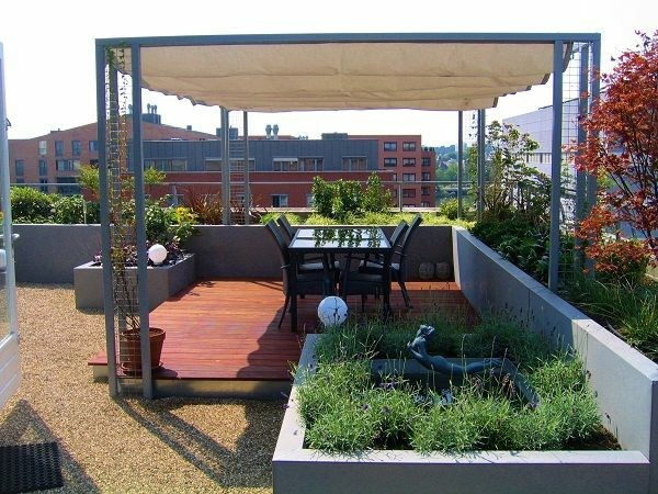 Roof terrace design ideas, examples and important aspects ...