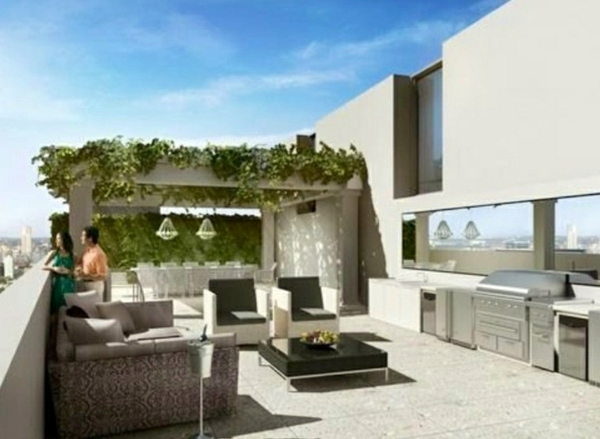 Roof terrace design ideas examples and important aspects for Terrace roof design india