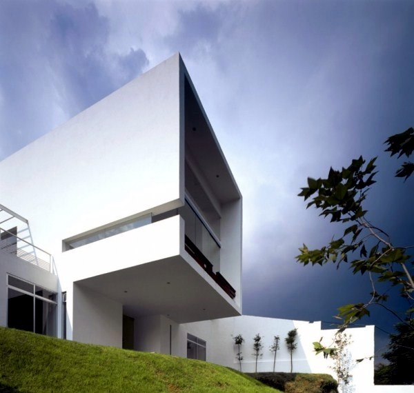Modern Cube House With Elegant Geometric Shapes on geometric interior design ideas