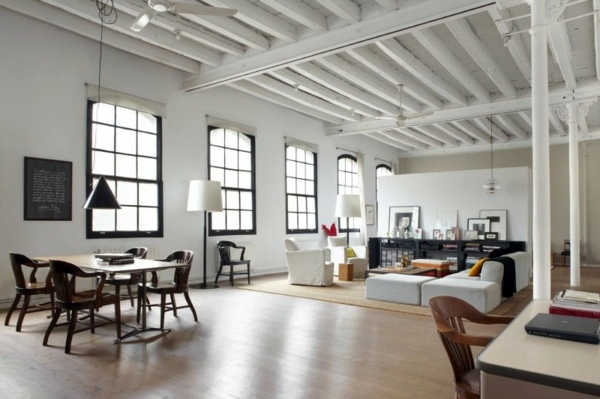 Modern Loft Stil ~ Modern loft in new york style of shoot design