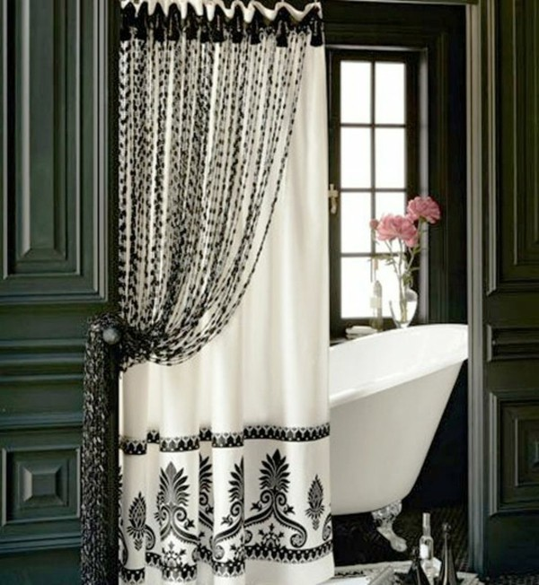 30 curtains decoration examples dress up the windows Bathroom shower curtain ideas