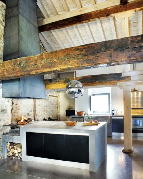 12 by 12 kitchen designs. Modern cuisine in a rustic style 12 practical ideas for kitchens Design  with built barbecue