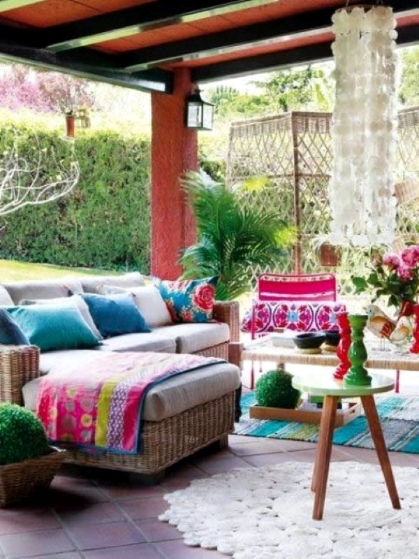 Adorable Boho Chic Terrace Designs Interior Design Ideas