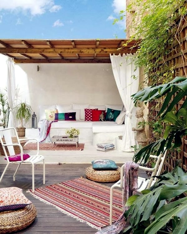 Adorable boho chic terrace designs interior design ideas for Terrace interior design ideas
