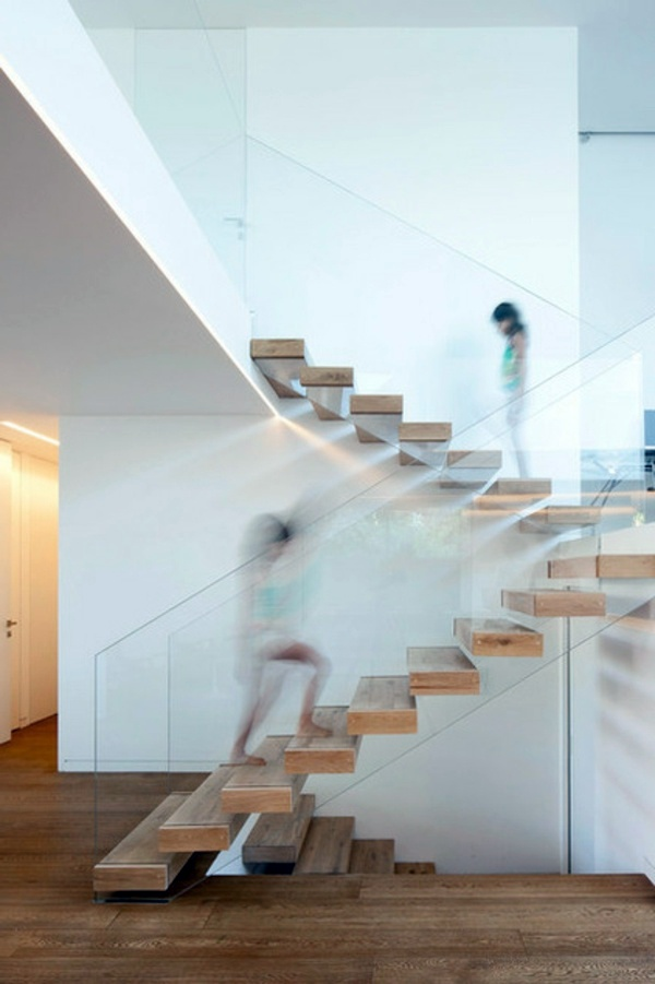 Modern wood stairs move relax interior design ideas avso org - Innenarchitektur modern ...