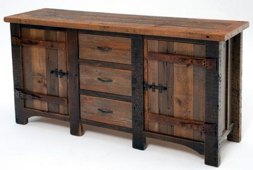 10 furniture designs from antique wood rustic style for Reclaimed wood table designs
