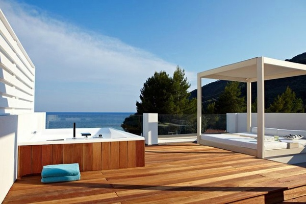 Lounge Gartenmöbel - Terrace design examples - you draw inspiration and design a wellness oasis on your patio