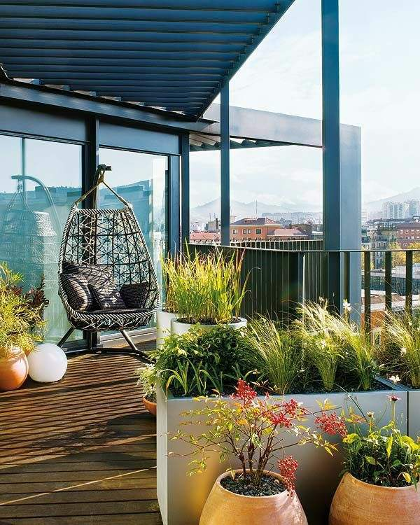 Relax In A Hanging Wicker Chair Terrace Design Examples