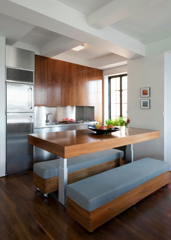 Amazing Two Benches Functional And Practical Kitchen Solutions For Small Kitchens Part 17