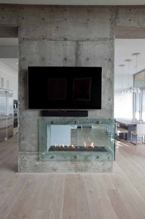 Advantages and ideas – ethanol fireplace in minimalist ...