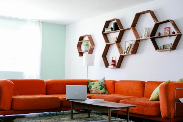 diy wall shelf honeycomb creative ideas for your home interior