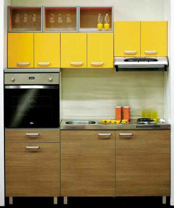 Yellow Accents Refresh The Interior Design Custom Kitchen Solutions   Modular  Kitchens