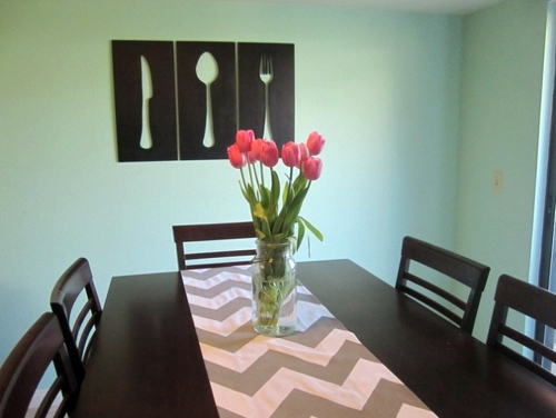 Wall Theme In The Dining Room DIY Art