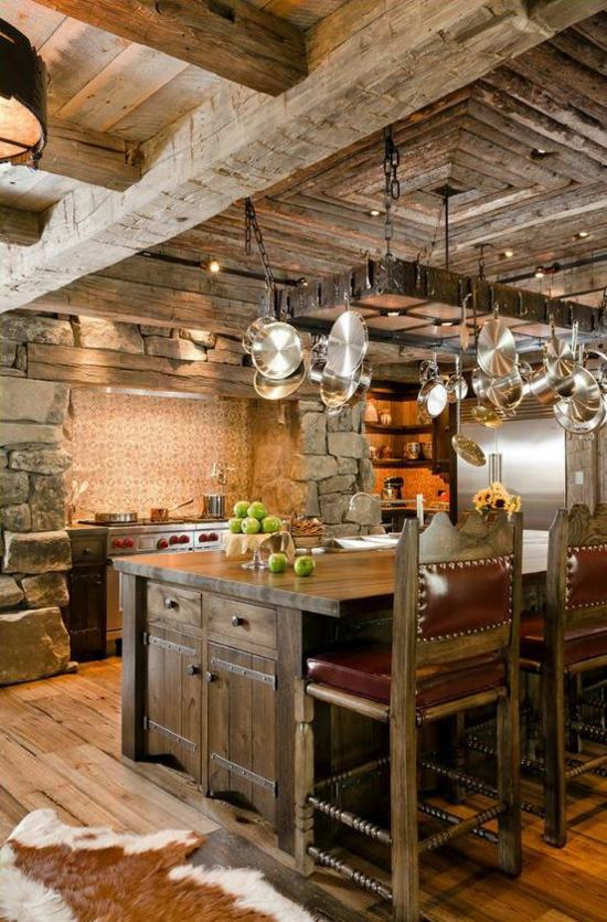 Küchen   50 Modern Country House Kitchens   Kitchen Design, Rustic Kitchen  Furniture