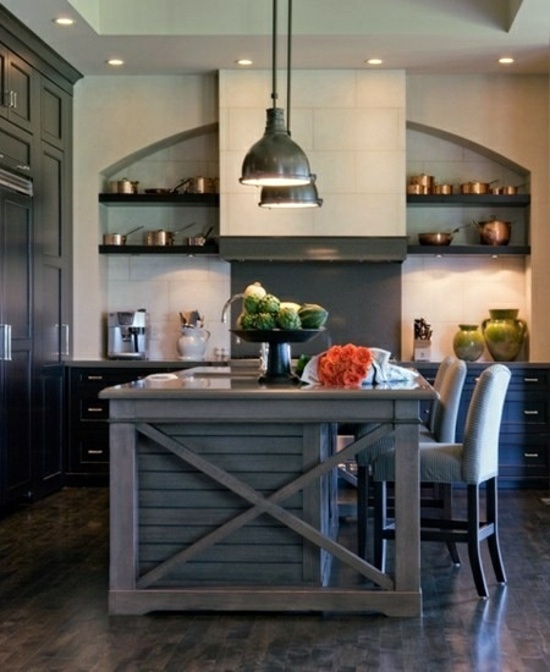 50 modern country house kitchens kitchen design rustic for Rustic modern kitchen ideas
