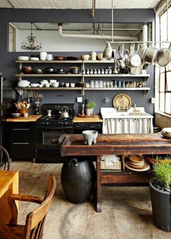 ... Shelves 50 Modern Country House Kitchens   Kitchen Design, Rustic  Kitchen Furniture