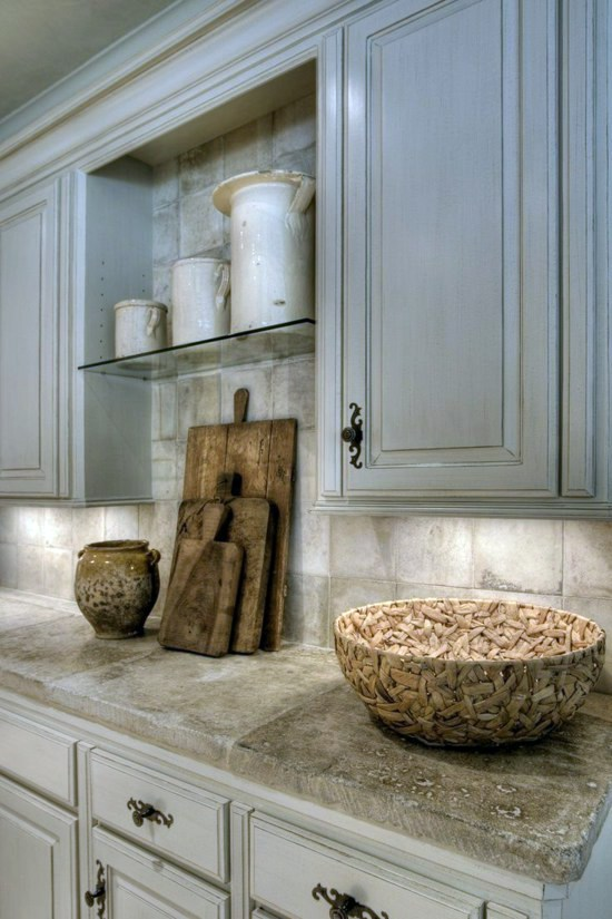 Kitchens Furniture. Upper Kitchen Cabinets And Stone Worktop 50 Modern  Country House Kitchens   Design