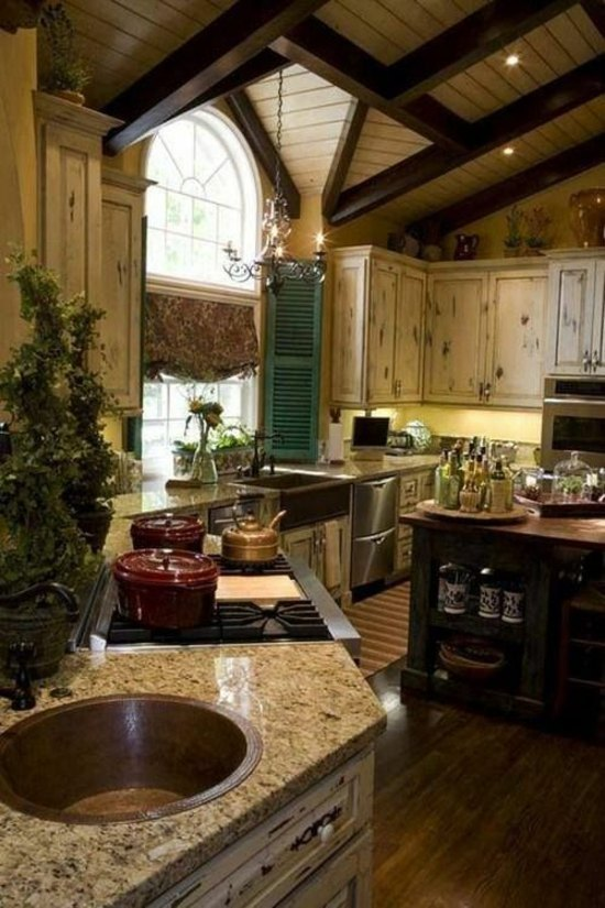 50 modern country house kitchens kitchen design rustic - Modern rustic kitchen cabinets ...