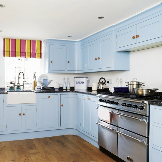 Light Blue Kitchen Cabinets 50 Modern Country House Kitchens   Kitchen  Design, Rustic Kitchen Furniture