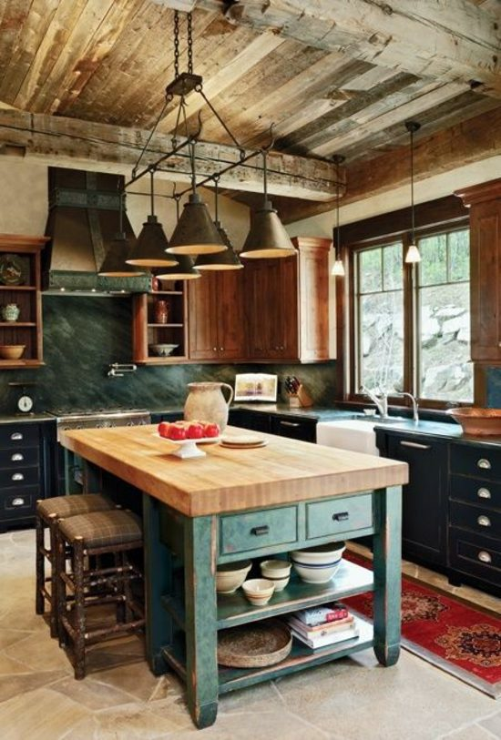 Admirable 50 Modern Country House Kitchens Kitchen Design Rustic Kitchen Largest Home Design Picture Inspirations Pitcheantrous