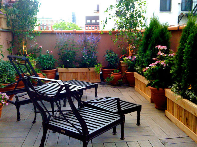 Perfect patio in the garden or on the terrace interior for On the terrasse