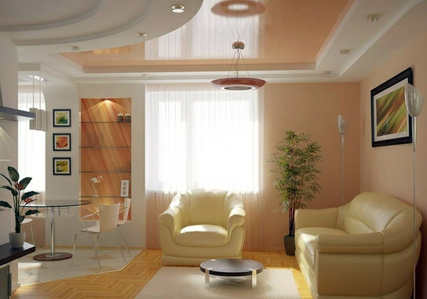 Ceiling design in living room – amazing, suspended ceilings ...