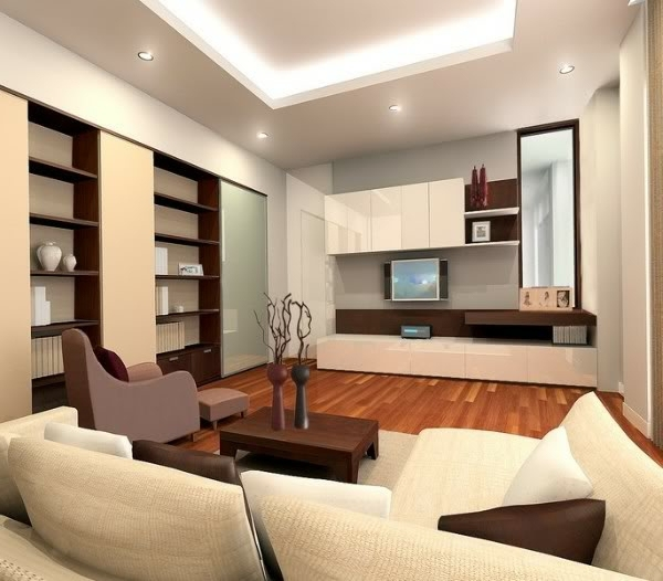 Modern Interior Decoration Living Rooms Ceiling Designs: Ceiling Design In Living Room
