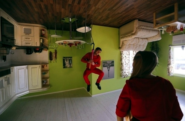 Upside Down House In Russia Amazing Sight Interior