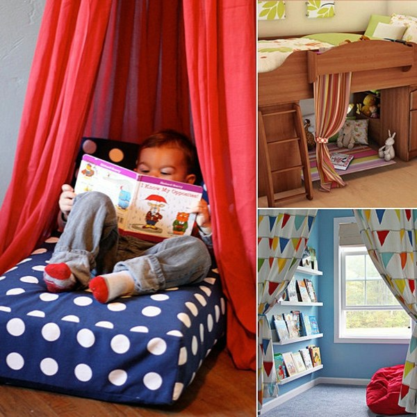 Cozy corner in the nursery ergonomics and comfort for for Kids reading corner ideas