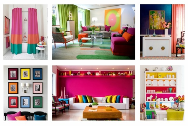 Bright Colors In Interior Design Combine Dominant And Complementary Shades