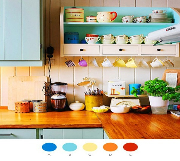 Complementary Colors Interior Design bright colors in interior design combine – dominant and