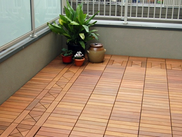 Terrace and balcony wood tiles ideas and other floor for Balcony wall tiles