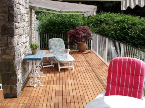 Wonderful Playground For Summer Days Lay Patio And Balcony With Wooden Tiles   Use  Wood Tiles For Flooring