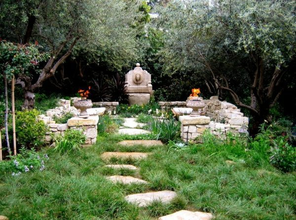 Imitate After Ruins; 13 Ideas For Garden Design   Pictures Of Seating And  Relaxation Areas In The Backyard