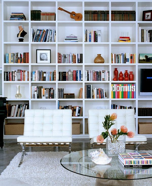 bookshelves wood – inspiring ideas for a great home library