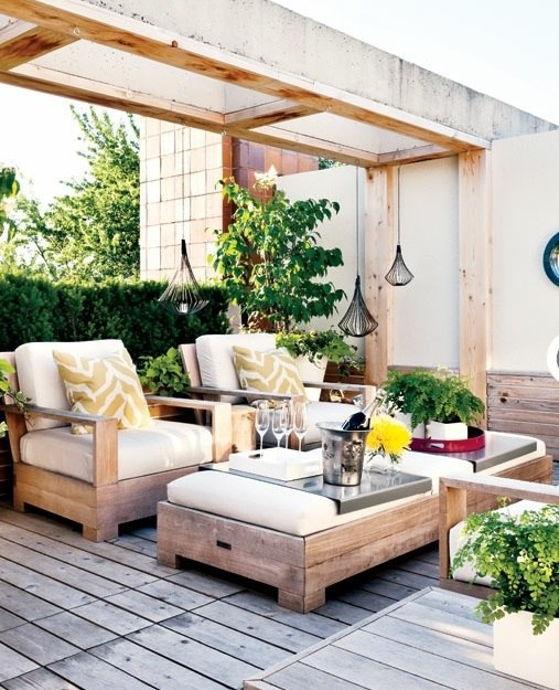 Garden Decoration Ideas   Modern, Rustic Backyard Design
