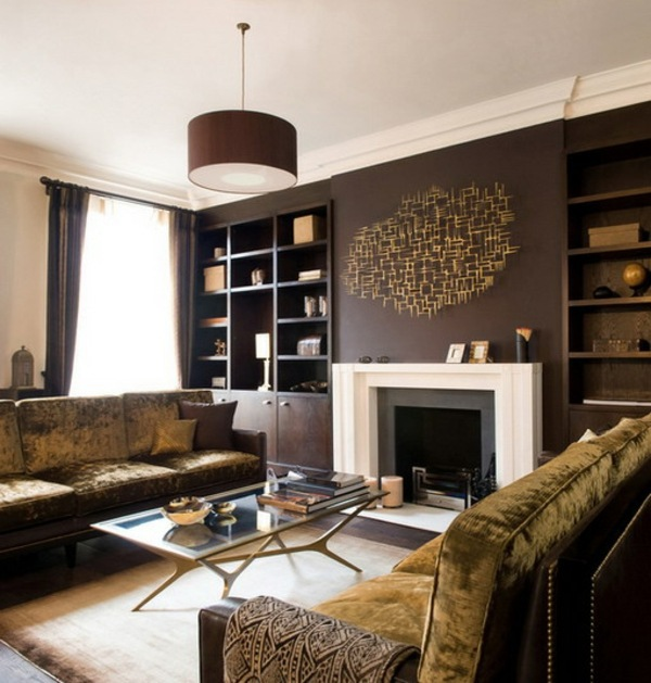 Farben - Wall color shades of brown - earthy, natural coziness at home