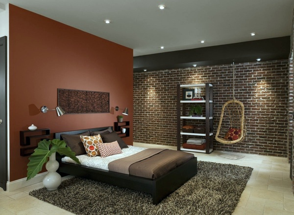 Swing To The Bedroom Wall Color Shades Of Brown