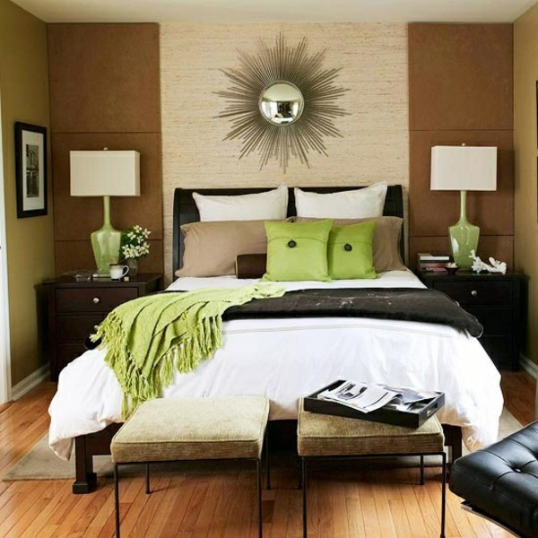 Captivating Mirror Dazzling Sunshine On The Bedroom Wall Wall Color Shades Of Brown    Earthy, Natural Coziness At Home