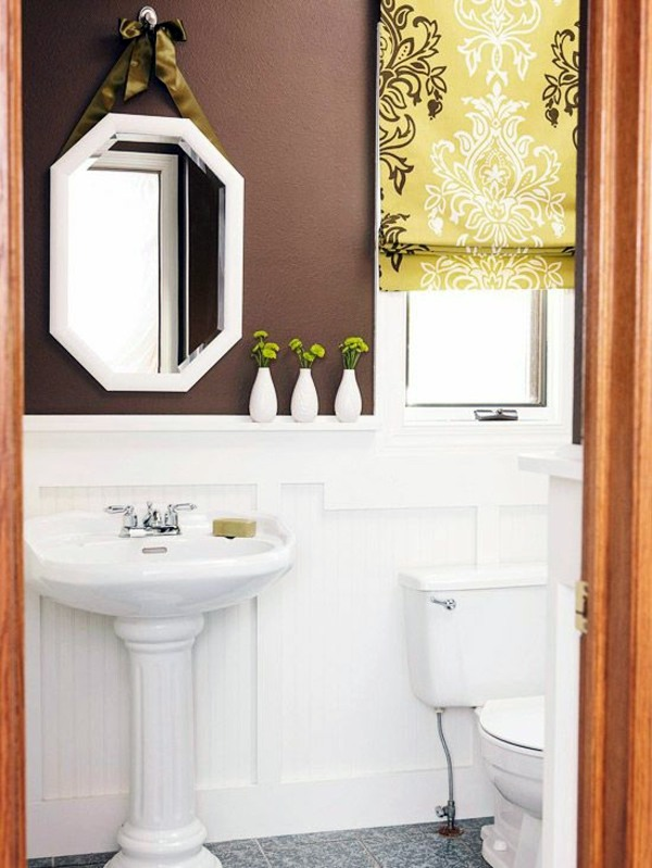Wall color shades of brown - earthy, natural coziness at home