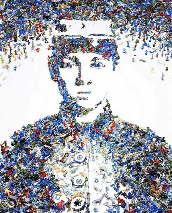 Works of art from garbage and waste of vik muniz for Art works from waste materials