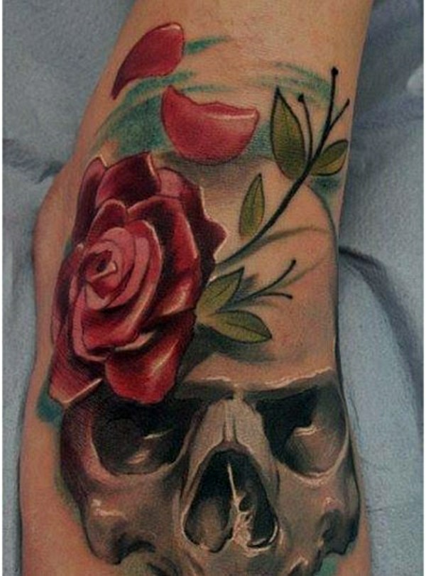 90 foot tattoo ideas stay stylish in vogue interior design ideas skull and red rose 90 foot tattoo ideas stay stylish in vogue mightylinksfo